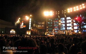 a stage of Pattaya Music Festival