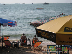 relaxed at pattaya beach