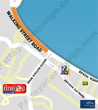 pattaya walking street map small