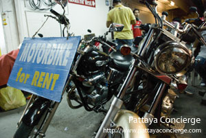 Motobike for rent at Pattaya city