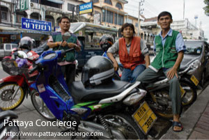 Motobikes Taxi at Pattaya City